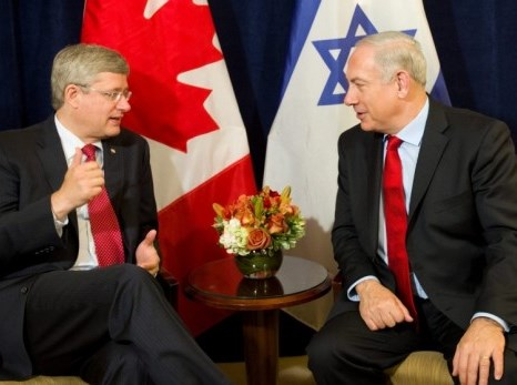 Harper and Netanyahu (picture source: Times of Israel).