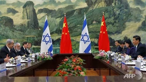 A picture from Netanyahu's recent trip to China.