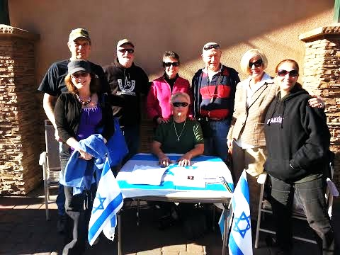 Some of our band of Israel supporters out in the Farmer's Market!