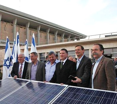 Lawmakers announcing the green project at the Knesset yesterday (picture: Israel Knesset office).