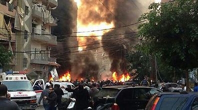 The aftermath of the blast in Beirut a few hours ago (picture: Ynet).