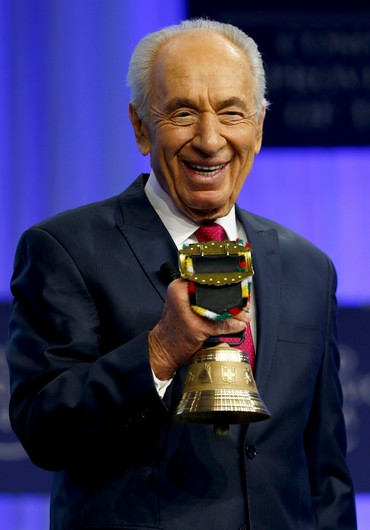 Peres--the darling of the Europeans. If you live long enough, some people forget what you have done--but not Israelis (picture: Jpost).