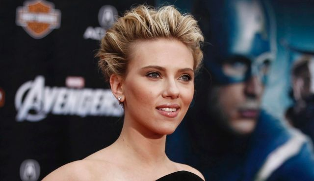 "Scarlett Johansson at the premier of her movie ""The Avengers"" (picture: AP)."