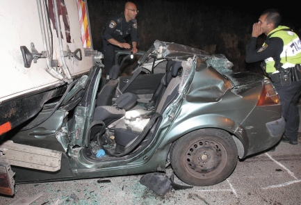 The Biton car. It was a miracle that anyone survived (picture: israelhayom).