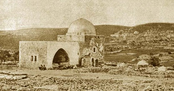 An early photograph of Rachel's Tomb from the 1800s.