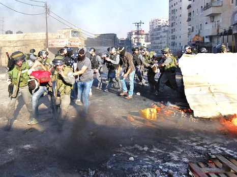 The scene in Bethlehem two hours ago (picture: walla).
