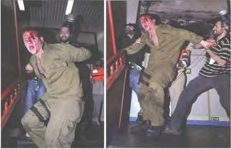 One of many pictures of Israeli soldiers being beaten by Turkish terrorists on the Mavi Marmara (photo: IDF).