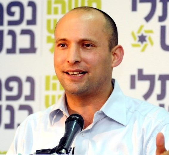 Bennett--the head of the Jewish Home party and Israel's Minister of the Economy: Always telling it like it is (picture: Times of Israel)..