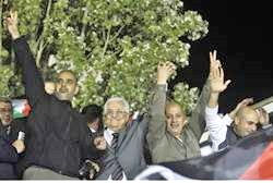 That's Rabbo on the far right--two away from the grayhaired Abbas.