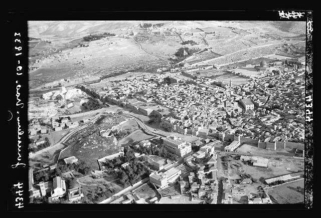 Air view of Jerusalem--1918.