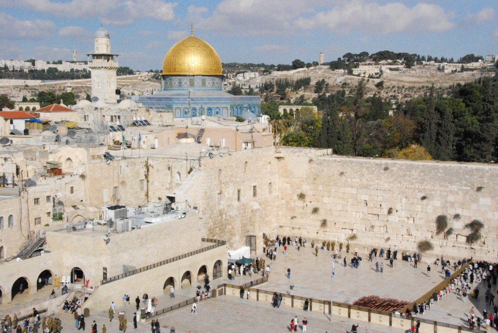 Most pictures of the Kotel are actually centered on the Dome of the Rock and not on the Western Wall.