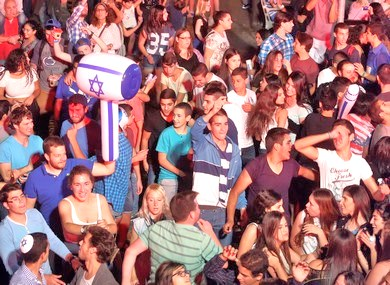 It was great to see the young people of Israel out in force. (Picture: Sellem, JPost)