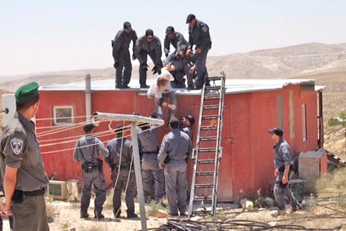 At Ma'aleh Rehavem this morning:  (picture: YNET, Gil Yochanon).