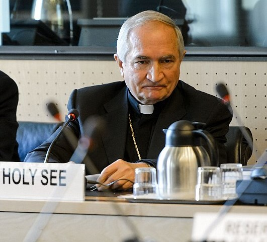 Tomasi on the hot seat in Geneva. As it turns out, the Holy See has not been so holy (picture: dailymail).