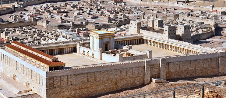 The reconstruction of the 2nd Temple at the Israel Museum.