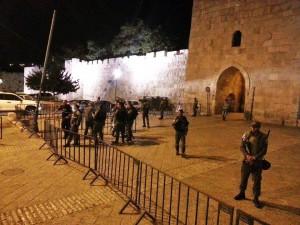One blockade set up last night.
