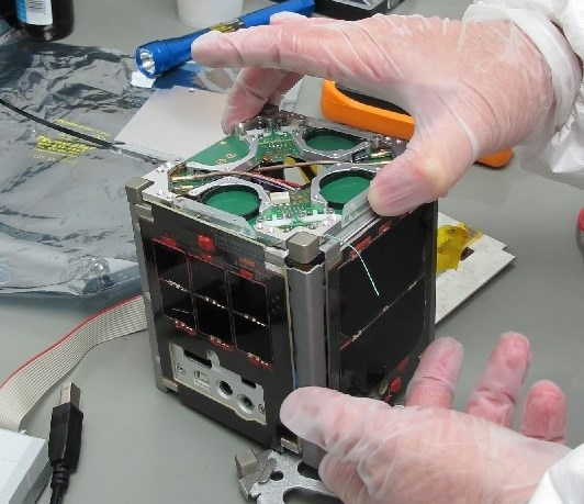 The tiny Duchifat-1 satellite now orbiting the Earth every 90 minutes (photo: Times of Israel).