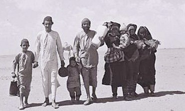 Refugees were exposed to harsh conditions (photo: JPost).