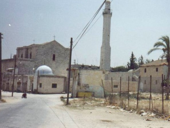 The Khader (St. George) Church-Mosque. Despite its trashy exterior, it contains an interesting combination of Christian and Muslim artifacts inside.