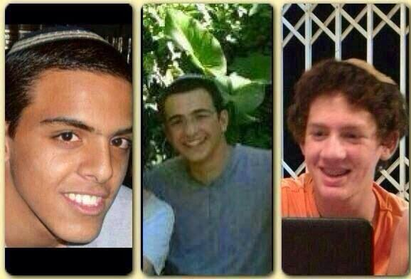 The three teenagers believed to have been kidnapped (picture: yeshivaworld).