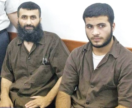Hamas terrorist murderers: father and son (Photo credit: Yonatan). Sindel/Flash90.