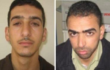 Left to right: Hamas terrorists Marwan
