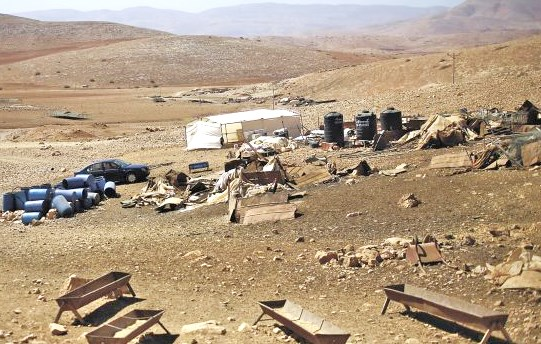 "Accorcing to the leftist Israeli newspaper Haaretz, this is a picture of the Palestinian ""village"" of Halat Makhoul. Would you call this a ""village"" or even a ""hamlet""? This is a settlement."