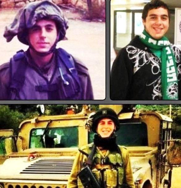 Sgt. Sean Carmeli as a soldier and a fan of the Maccabi Haifa soccer team. Another wonderful young man has been lost.