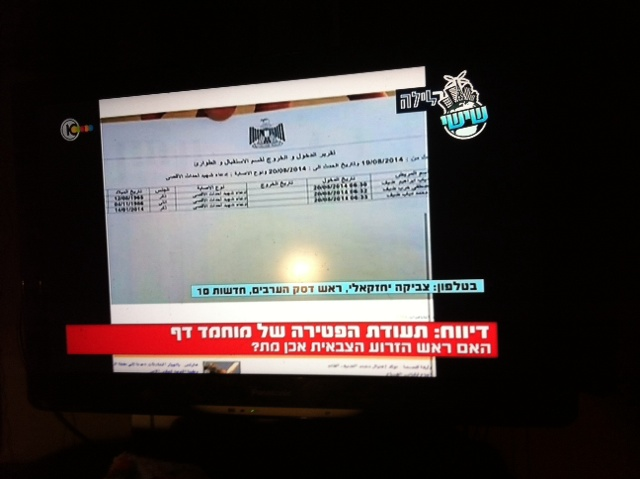 Is this Mohammed Deif's death certificate? His name is on it.