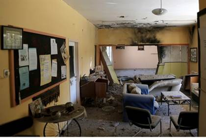 The kindergarten where the Israeli man was wounded while saving a teacher and child (photo: Flash90).