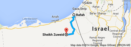 "The ""triangle"" between Rafah, Sheikh Zuweid, and Al Arish has become a terrorist haven of weapons and people smugglers."
