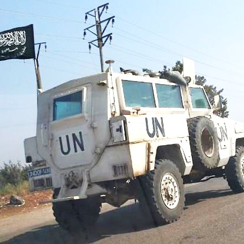 Not only have U.N. forces fled, they have left all of their equipment behind. This picture from two days ago shows a captured U.N. vehicle flying an Islamist rebel flag.