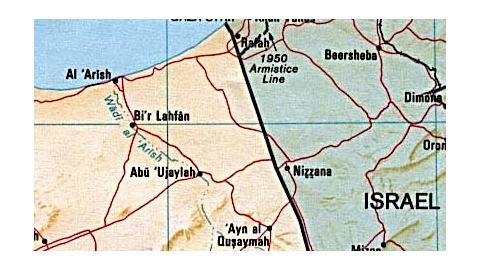 The attack occurred near Nizzana--near the border crossing into Egypt.