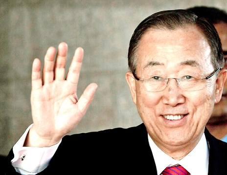 The U.N. Secretary General, Ban ki-Moon, who never misses an opportunity to undermine Israel.