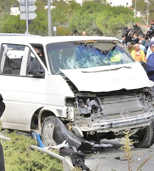 The van that was used in the attack.