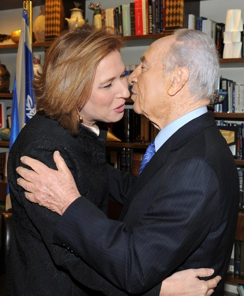 Livni and Peres: woking together with John Kerry to undermine Benjamin Netanyahu. It doesn't take much imagination to see that if Livni ever disastrously became Prime Minister, Peres might disastrously be named Foreign Minister (picture: zimbio.com).
