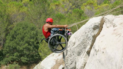 This Israeli Disabled Veteran is climbing mountains with the help Etgarim--an organization founded by Israeli Disabled Veterans.