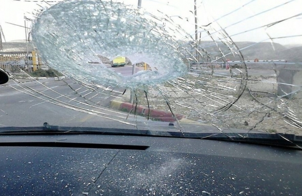 The results of another Palestinian terror attack on Road 443 yesterday (photo: 0404).