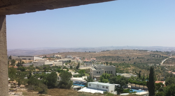 Looking toward Ramallah. That's part of the Biddu Enclave on the empty-looking hill.