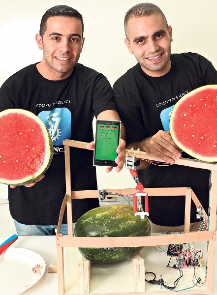 Two of the watermelon app's inventors.