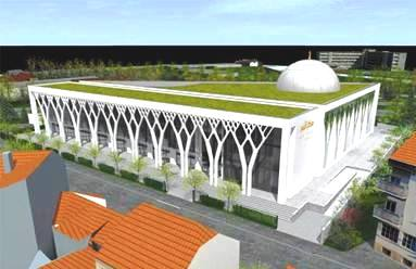 An artist's rendering of the new mosque about to be built in Limoges.