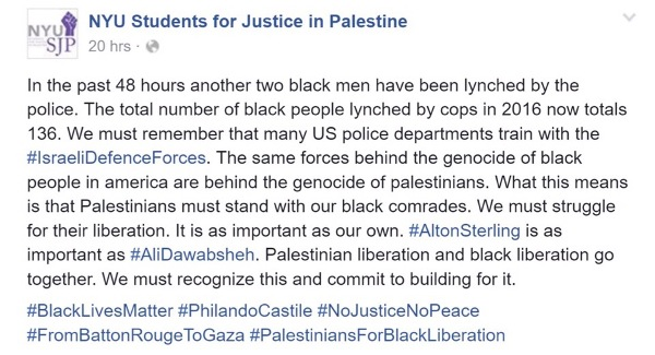 Source: Students for Justice in Palestine.