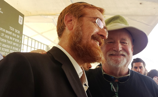 Rabbi Glick with your humble servant.