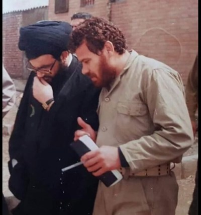Hezbollah head of special forces Ismail Zahri with Hezbollah chief Hassan Nasrallah.