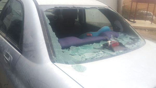 """Was this """"rock"""" attack terrorism? Only if the baby in the back seat was physically wounded--according the IDF."""