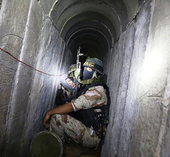 This tunnel was built by money from the; the assault rifle in the terrorist's hand was paid for by; and the terrorist's salary was paid for by