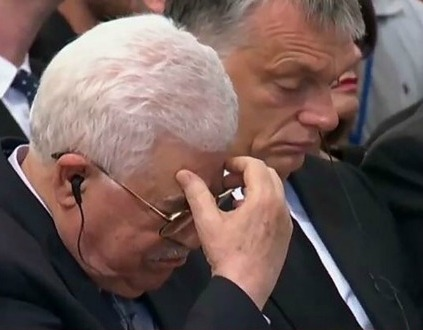 Was Abbas in tears?