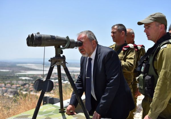 Lieberman surveying Israel. Is he looking for more land to give away?