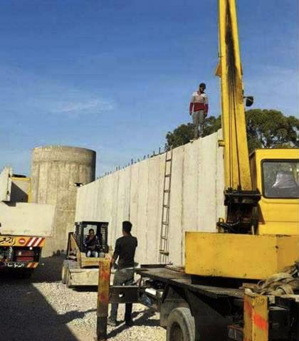 The wall going up around Ein al-Hilweh.