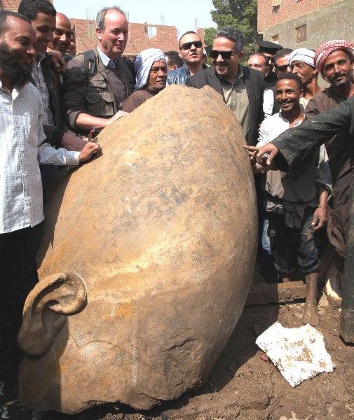 The head of Psamtek I--found underground in a garbage dump near Cairo.